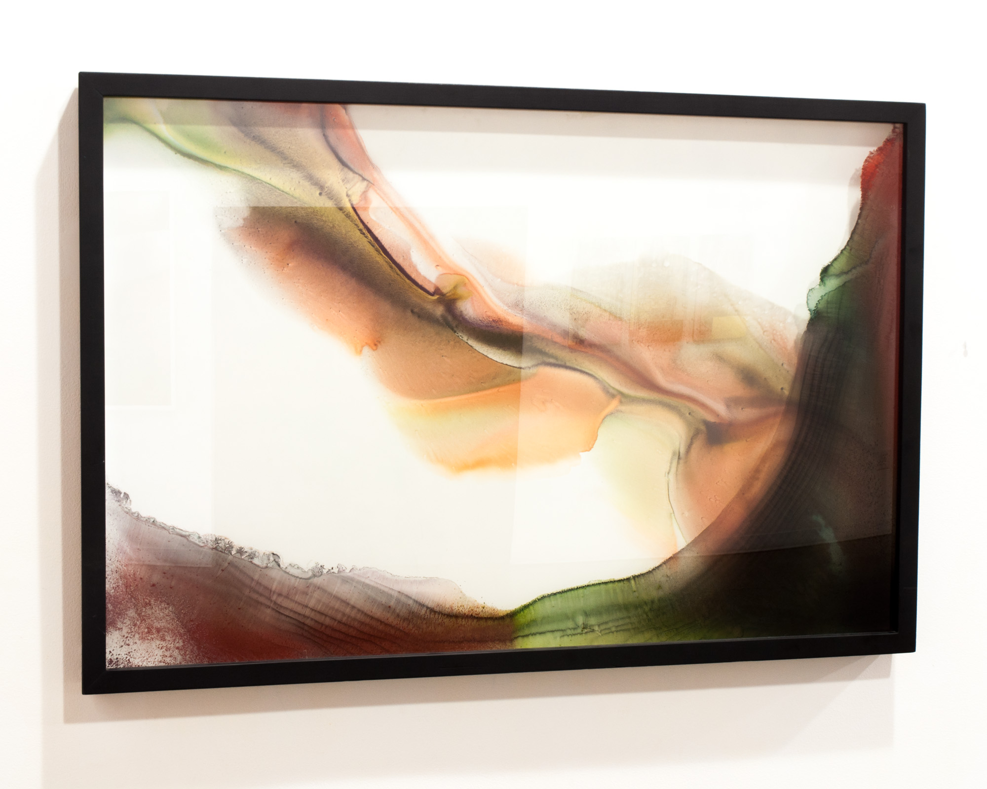 Song of Earth  sumi ink and watercolor on glass and gesso panel  31 x 46 inches ERO 103G