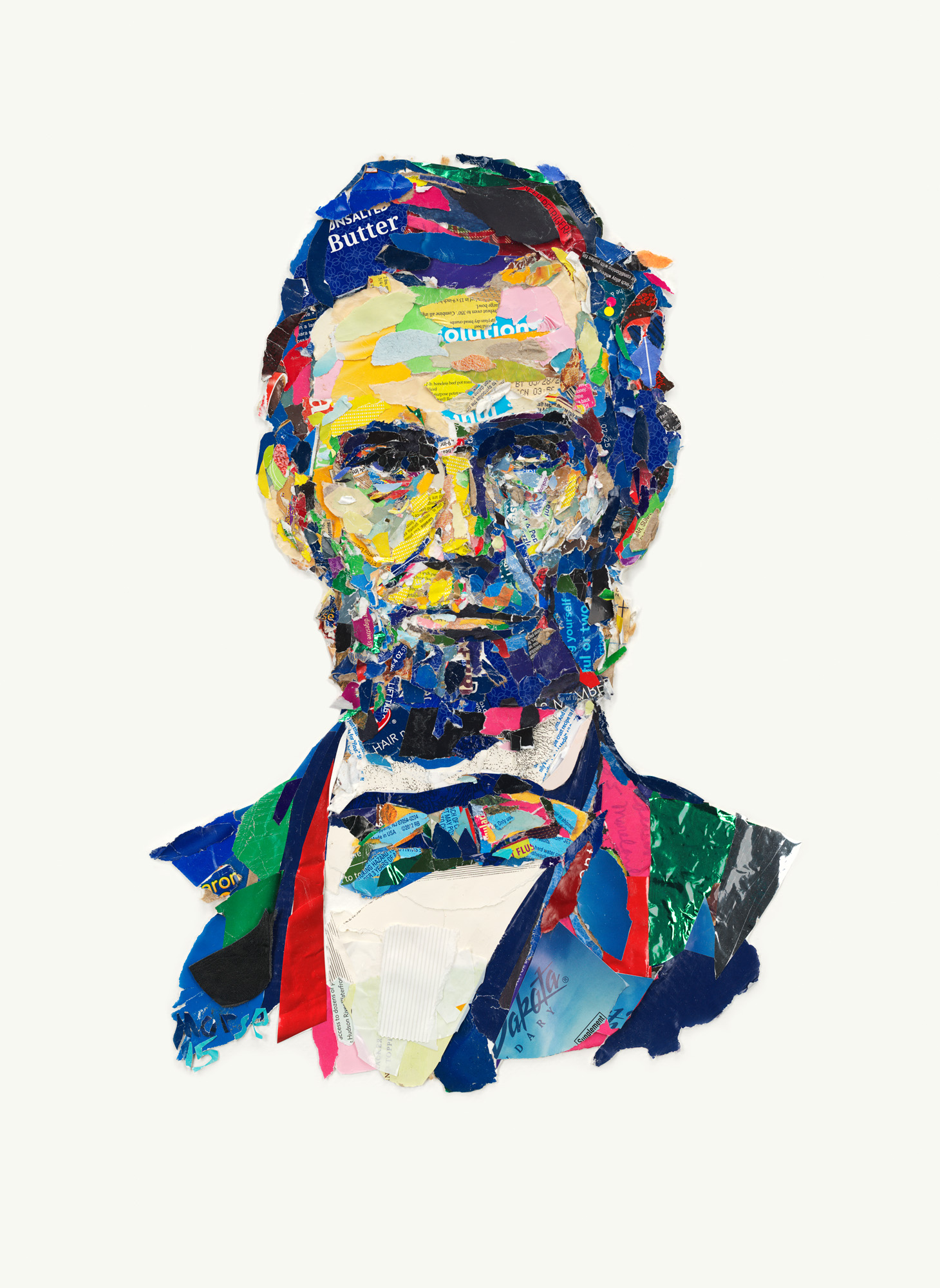 A.Lincoln Found paper collage 24x18 inches JMO 010G