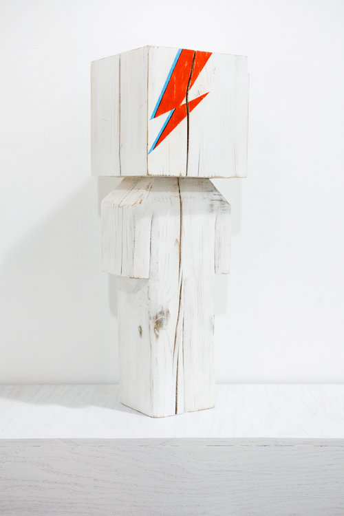 Ziggy cedar + acrylic 7.5 x 7.25 x 22.5 inches CSK 034G