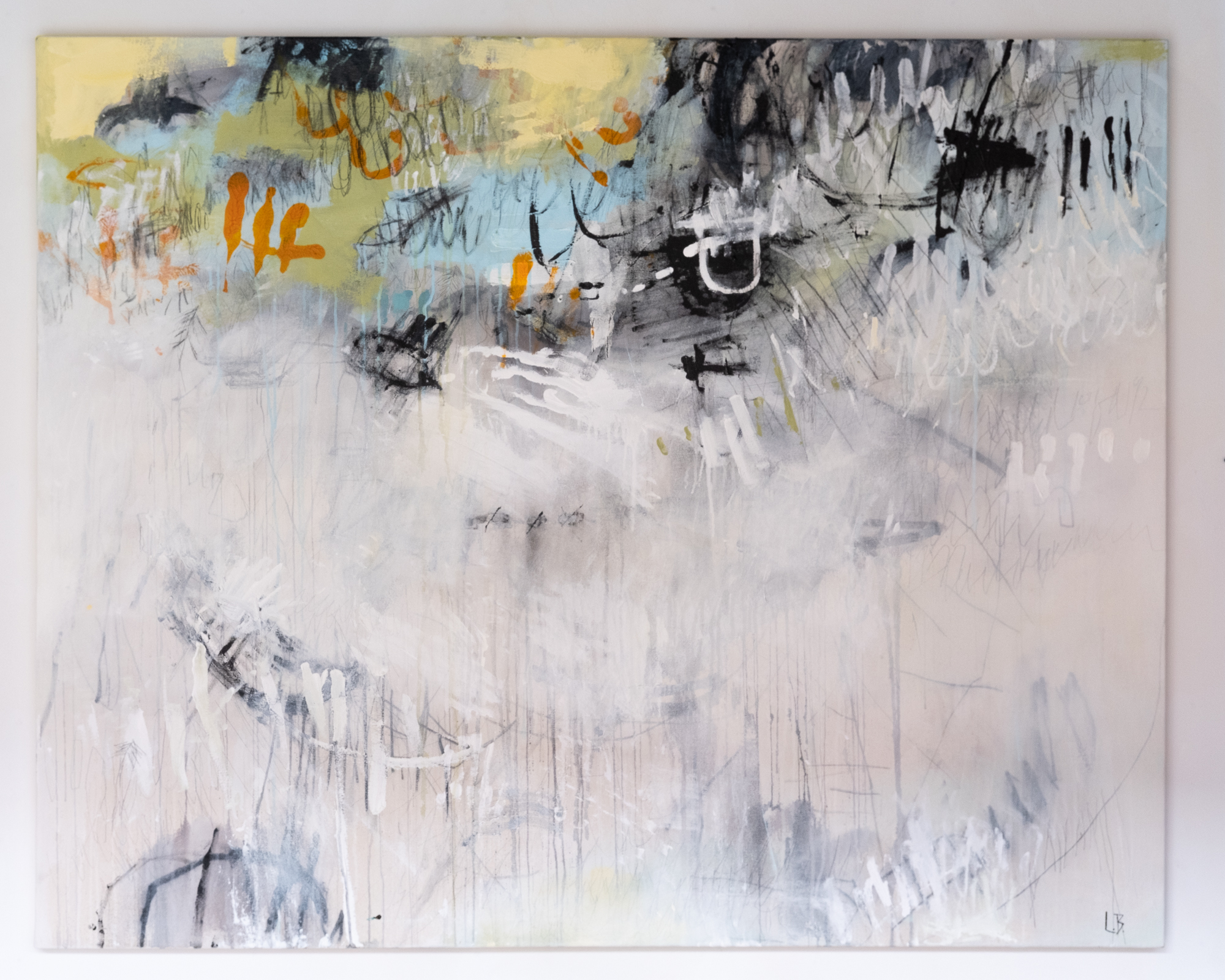 Lauren Betty   Demystification of the South  acrylic on canvas 49 x 61 inches LBE 004G