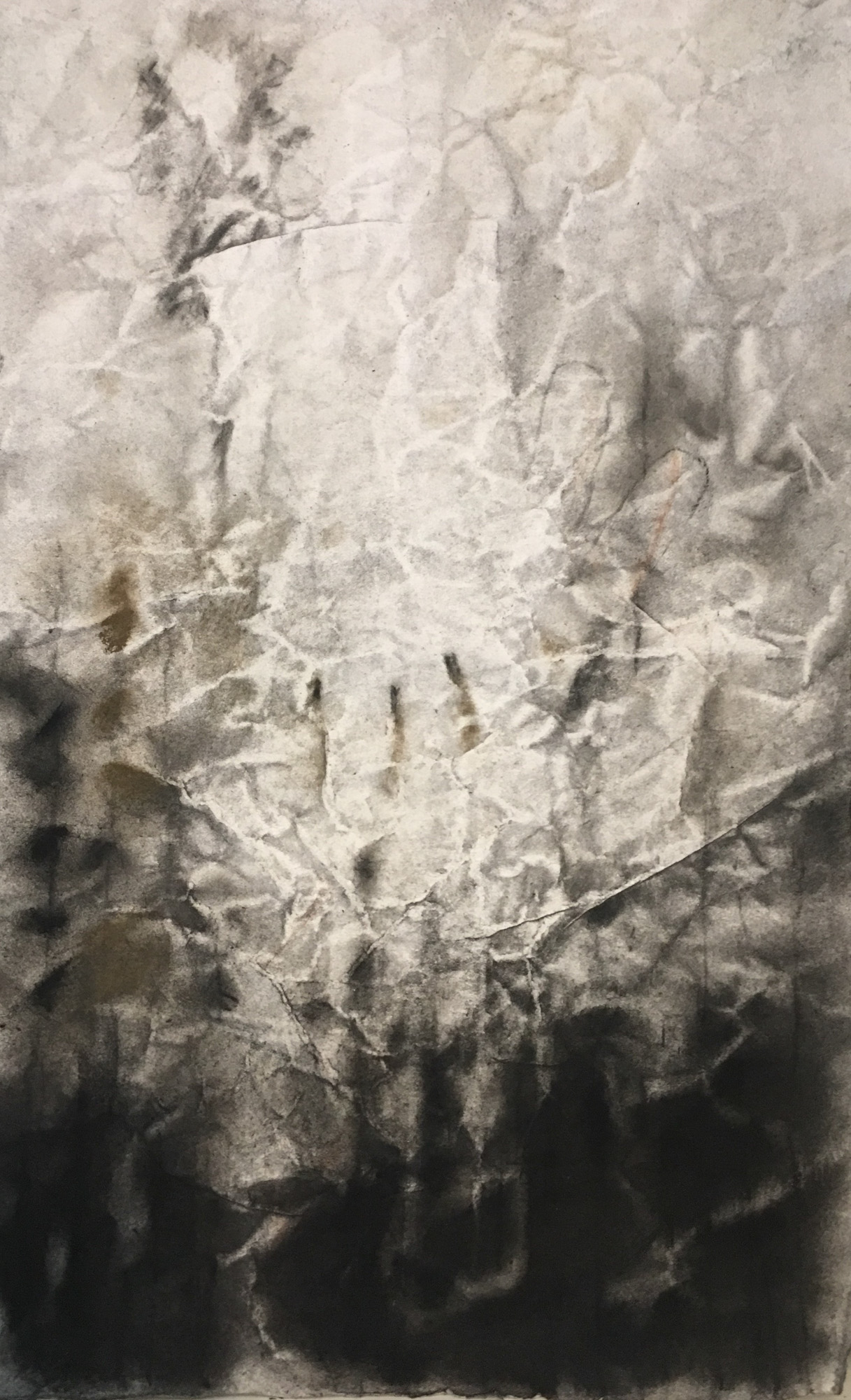 "Andrea Garland ""Wrung"" charcoal & pastel on embossed paper 14 x 20 inches AGA 002G"