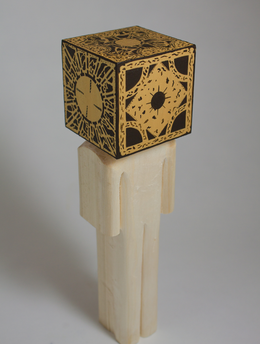 Lemarchand's Box    basswood and acrylic  2.5 x 2.5 x 9.8 inches  CSK 040G