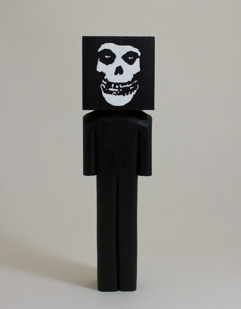 Misfits    basswood and acrylic  2.25 x 2 x 8.2 inches  CSK 041G