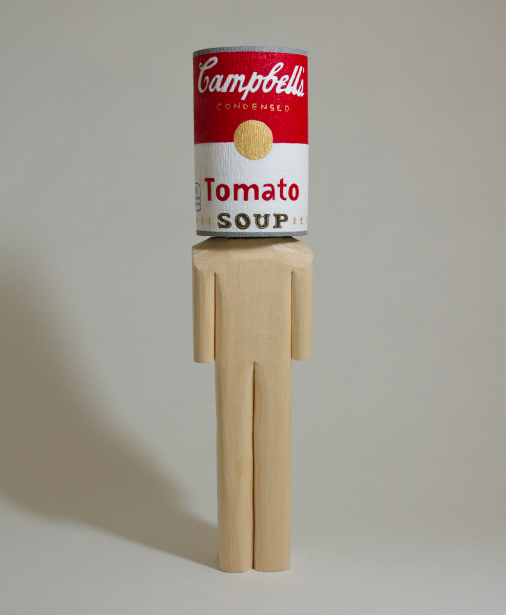Campbell Soup    basswood and acrylic  2 x 1.8 x 9 inches  CSK 039G