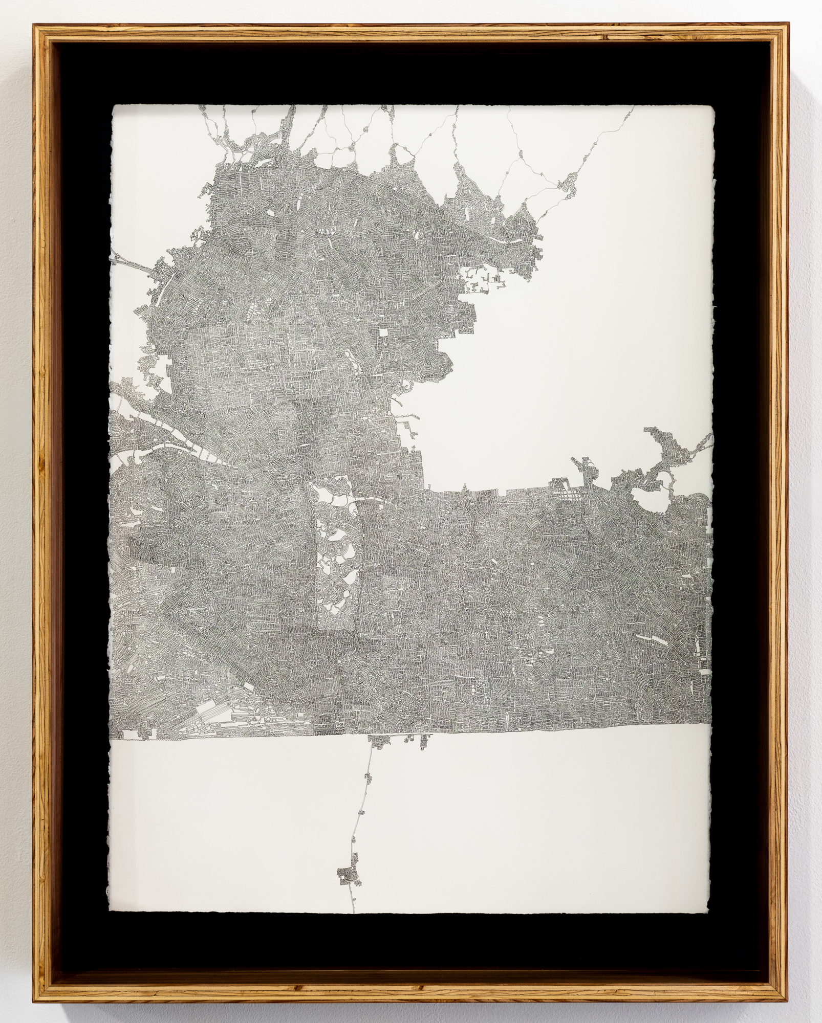 Liminal (Our Land)  Marc Boyson    ink on rives BFK   35.5 x 27.5 inches MBO 001G