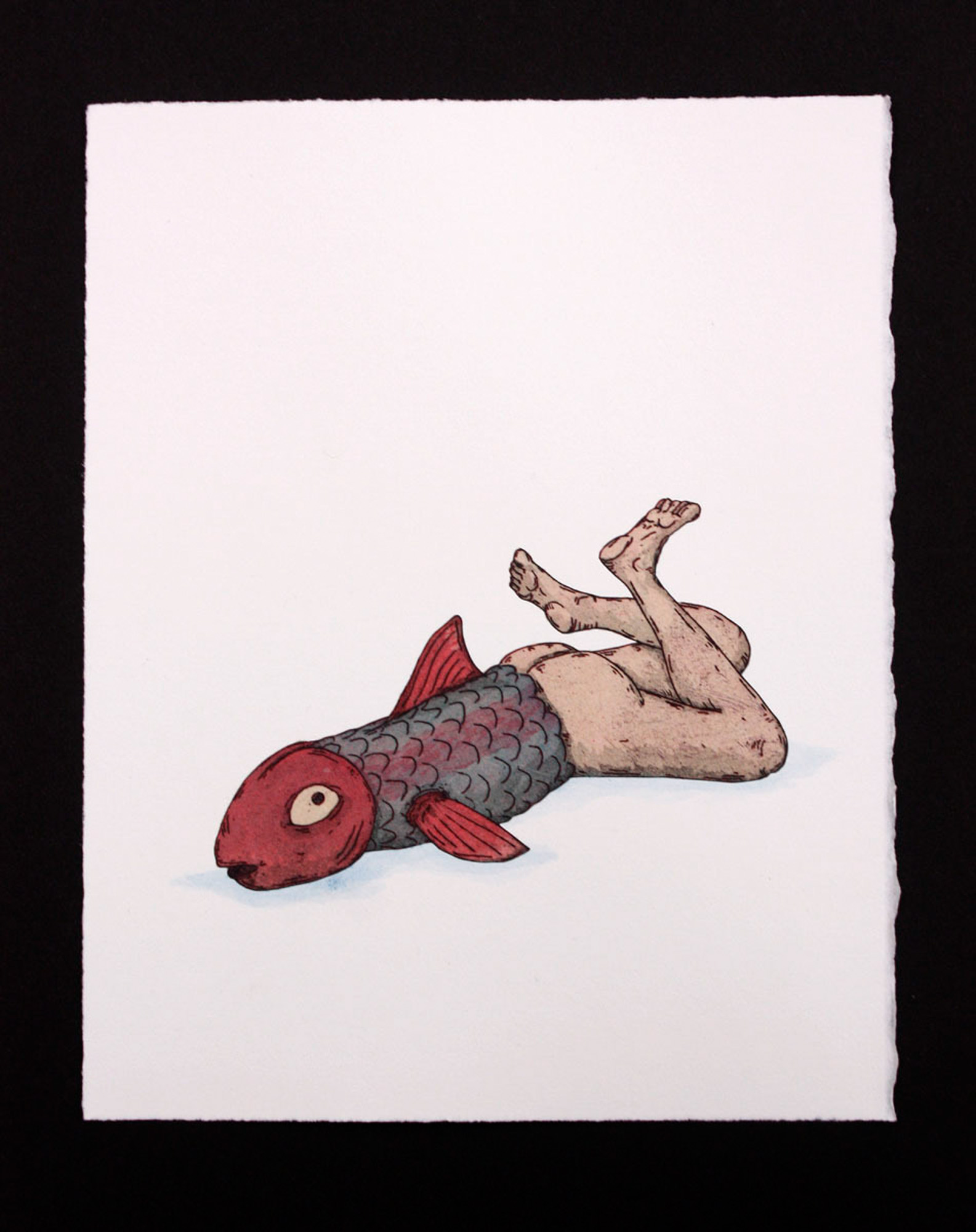 Lars Roeder    Specimen 1.7  Color intaglio and aquatint with watercolor 9 x 7 inches, APS 245G