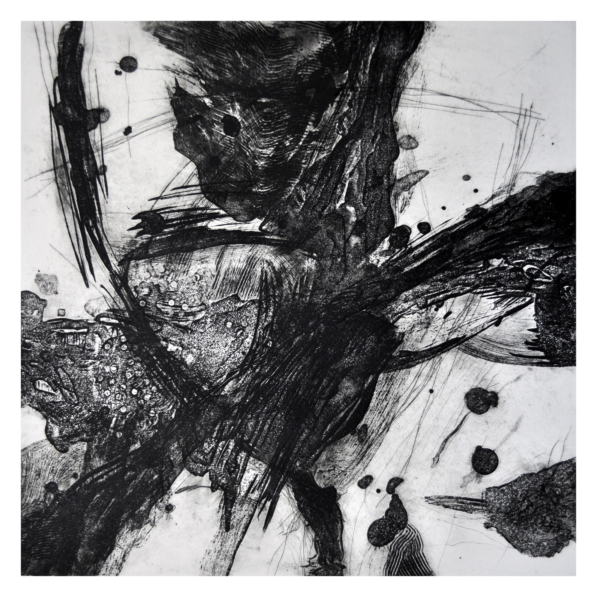 Abdelsalam Salem   Accumulation of time 5#  Intaglio 19.75 x 19.75 inches, APS 247G