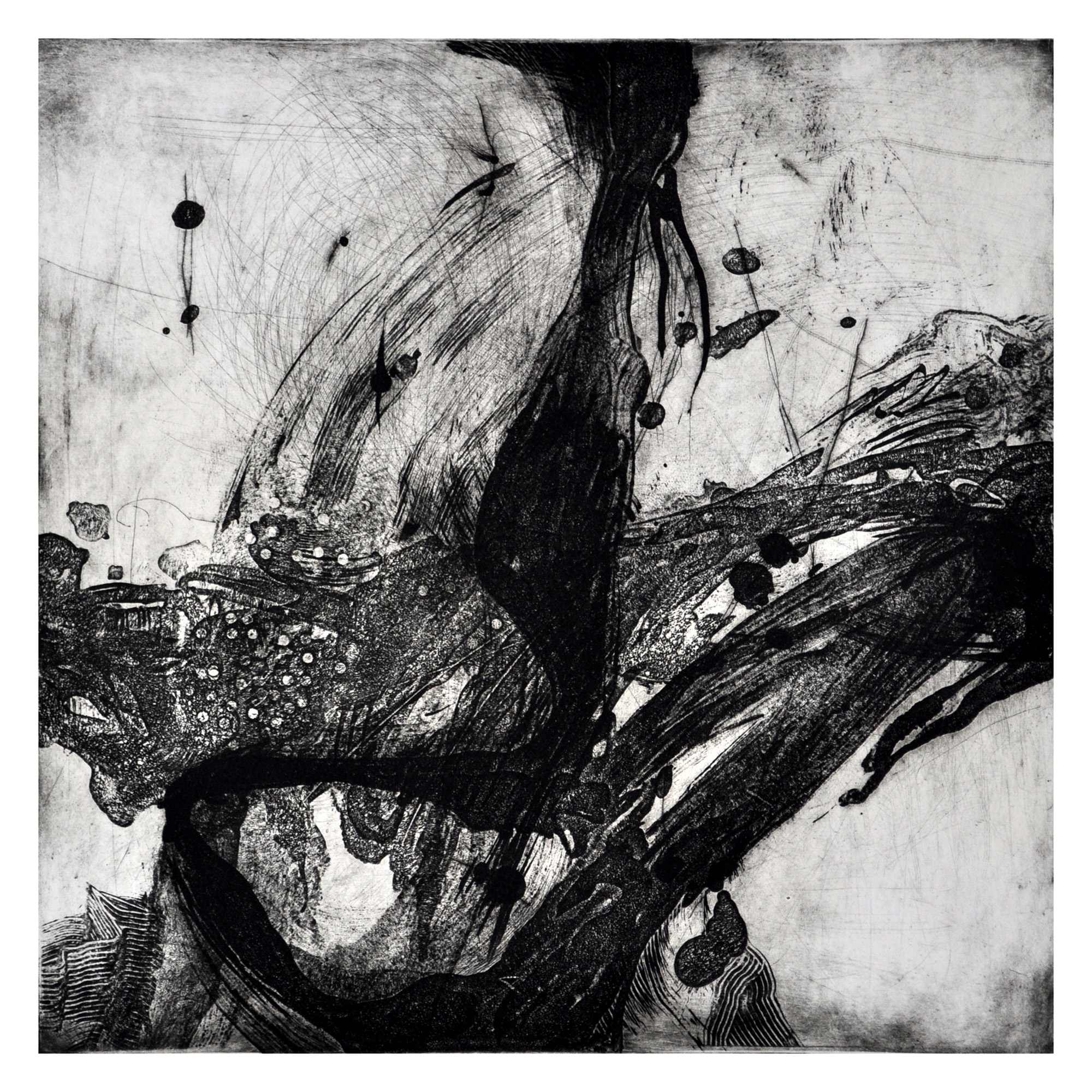 Abdelsalam Salem   Accumulation of time 6#  Intaglio 19.75 x 19.75 inches, APS 248G