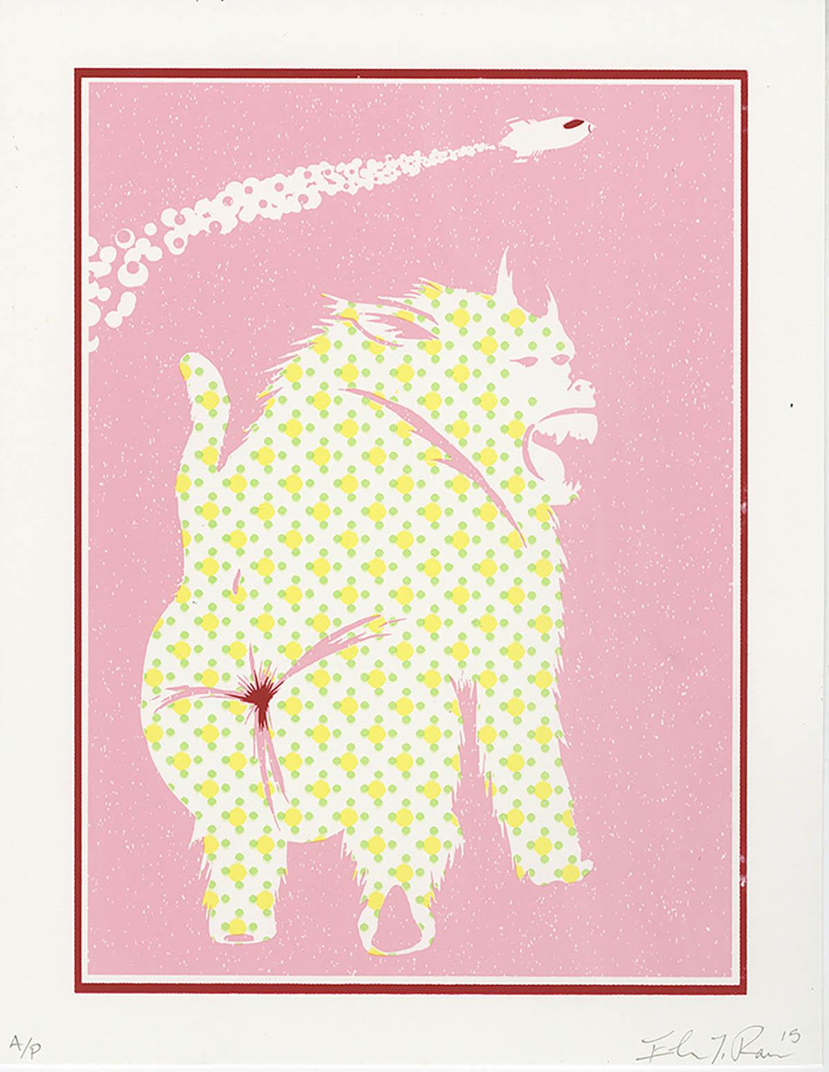 Elmer Ramos BA-DA-BOON (edition of 10) serigraph 7 x 10 inches ERA 005G.jpg