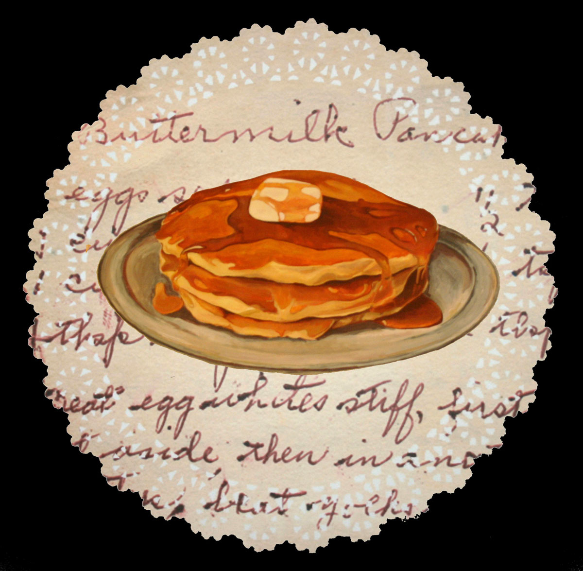 Melissa Harshman Buttermilk Pancakes acrylic on paper, lut jet 19 x 19 inches MHA 005G.jpg