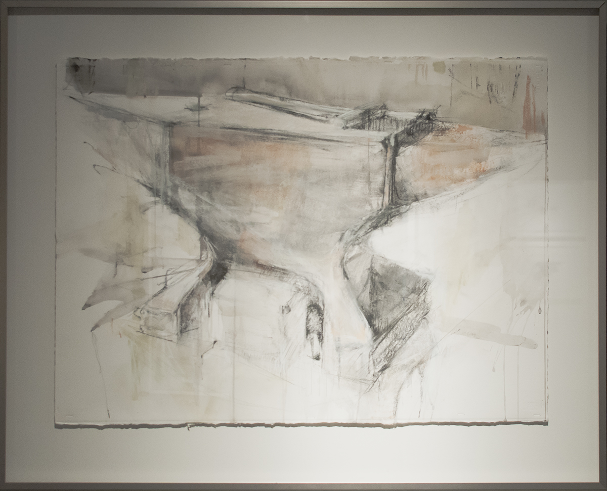 Mary Hartman Parks Weight Your Turn charcoal, pastel, acrylic wash 30 x 22 inches MHA 001G.jpg