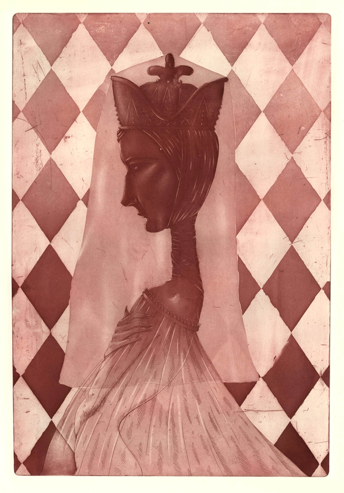 Michael Ezzell Checkmate etching 13 x 19 inches MEZ 004G.jpg