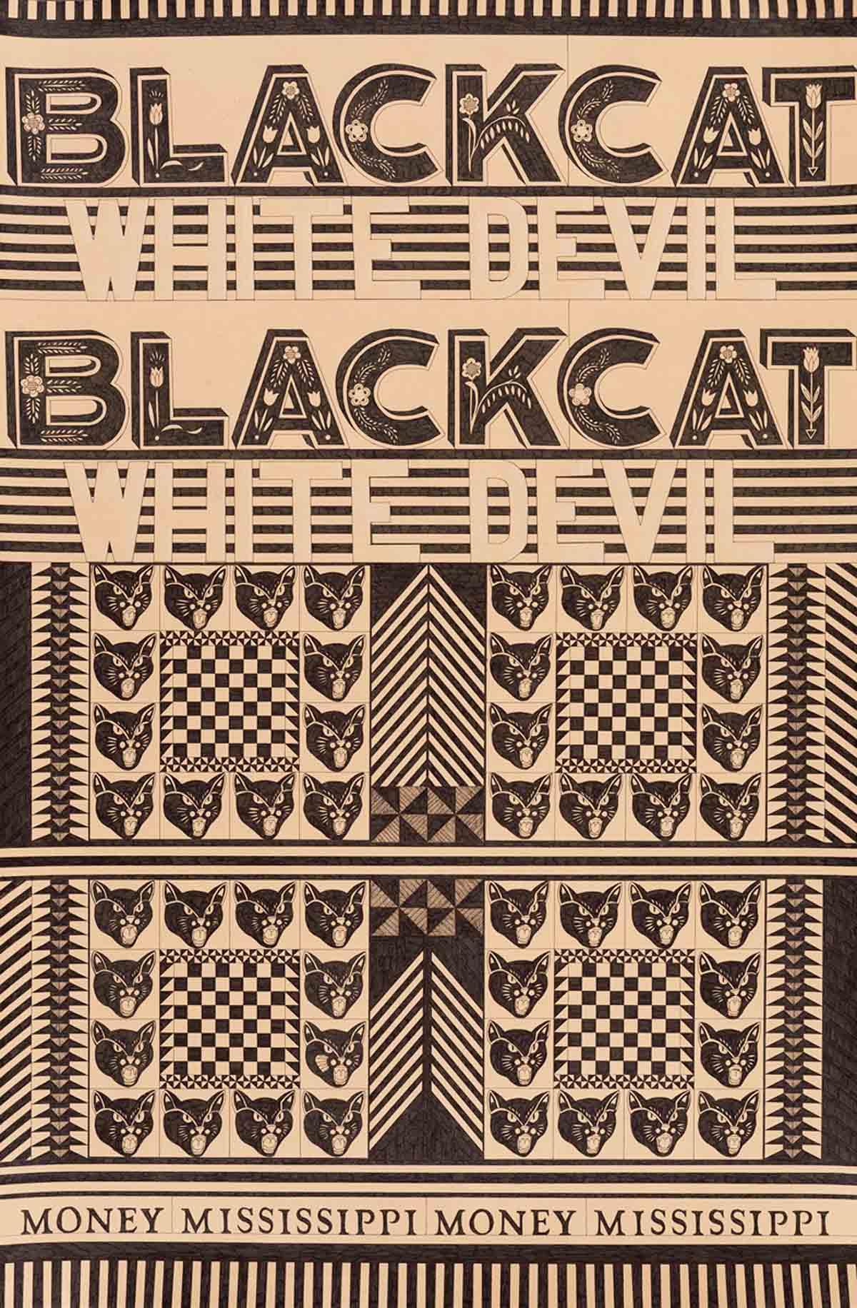 Stephanie Howard Black Cat White Devil pen on paper 35 x 23 inches SHO 001G.jpg