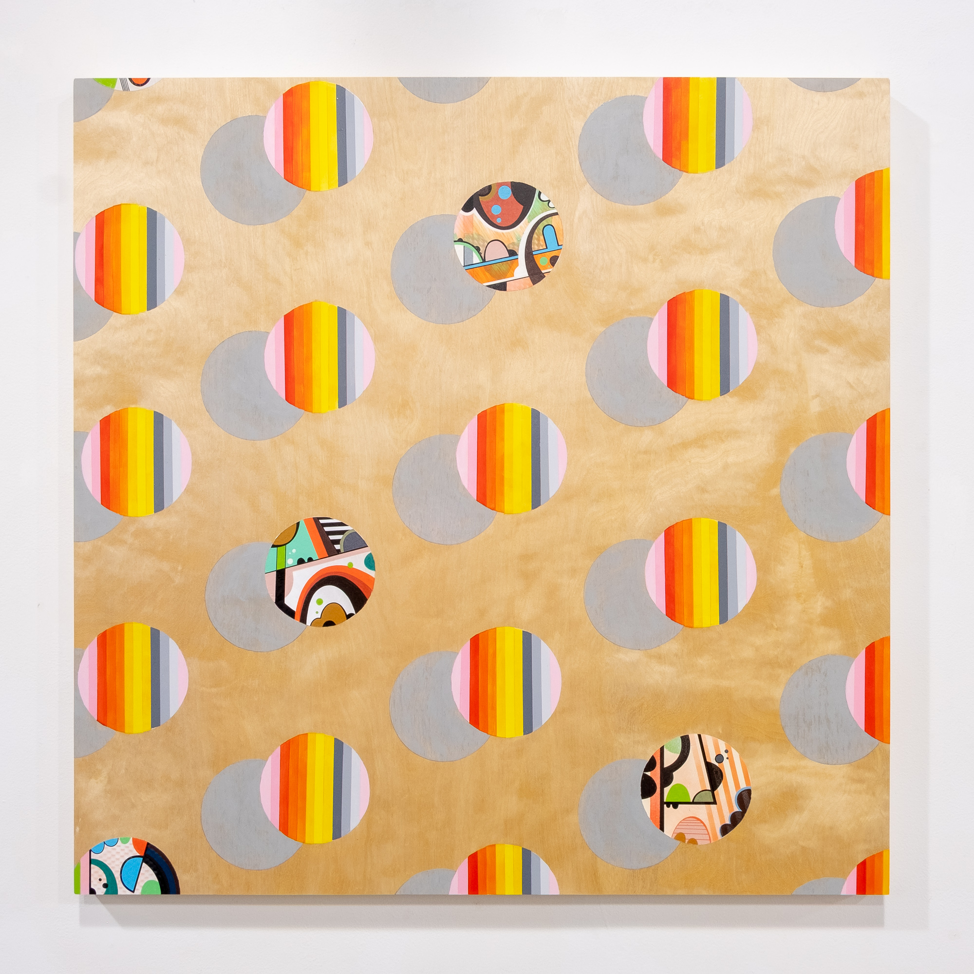Lela Brunet and Phil Harris   Going Rogue   acrylic paint on wood panel 36 x 36 inches LBR 071G