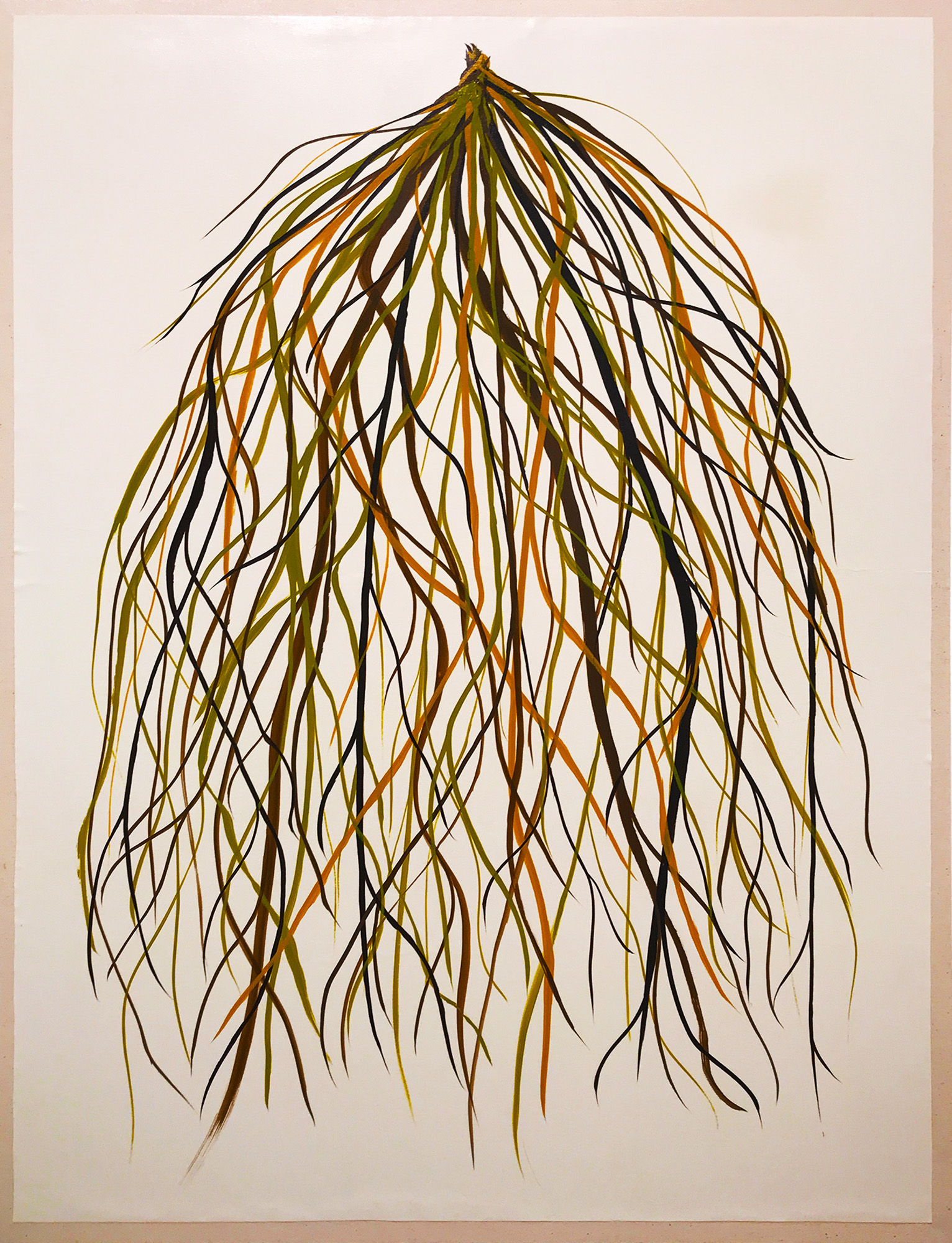 "Steven L. Anderson, ""Entangle,"" 2018, gouache on paper mounted on canvas, 40in. x 30in."