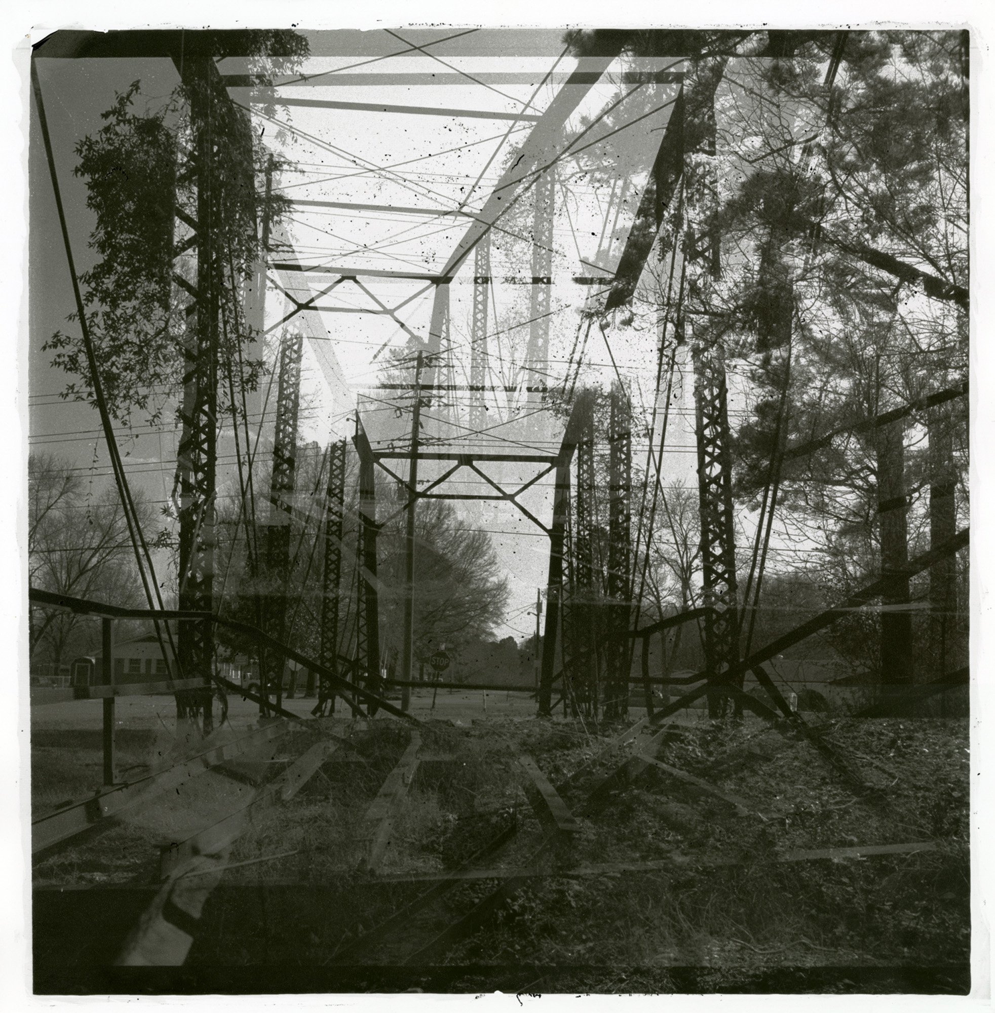Jo Arellanes Double Bridge, Carbon Printing, 18 x 18 inches