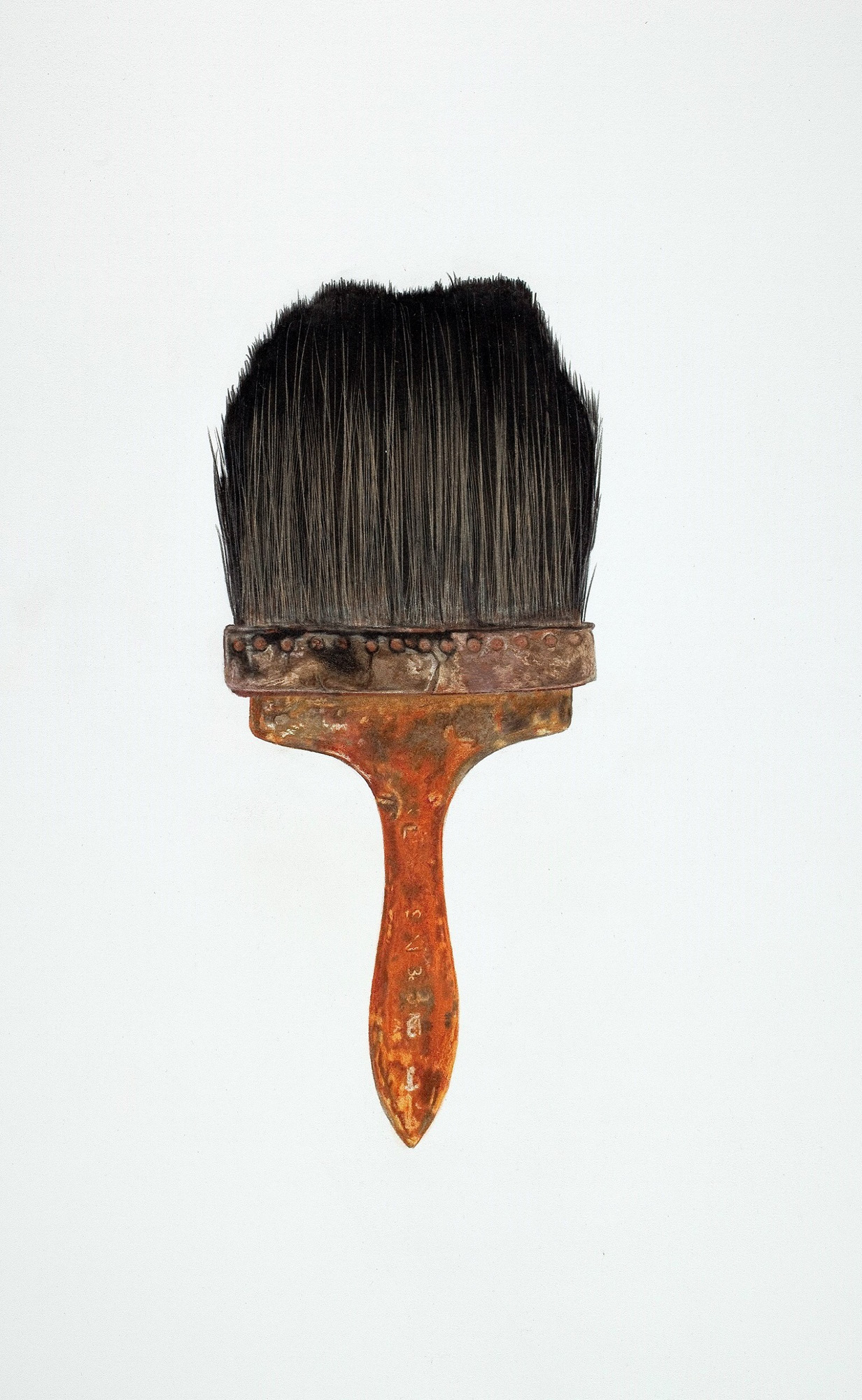 Philip Carpenter Paint Brush, color pencils on paper, 28 x 20 inches