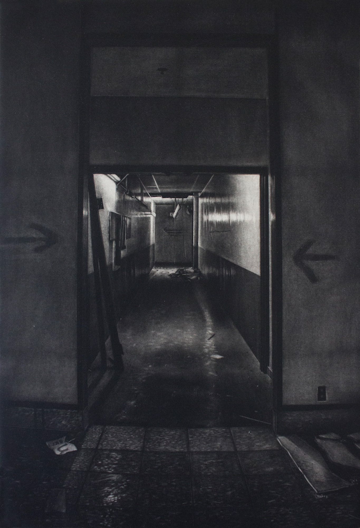 Jacob Crook This Way Out, Mezzotint, 18 x 12 inches