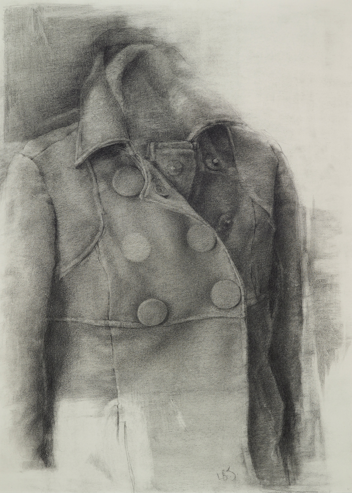 Lori Brook Johnson Winter Coat, Graphite, 14 x 10 inches