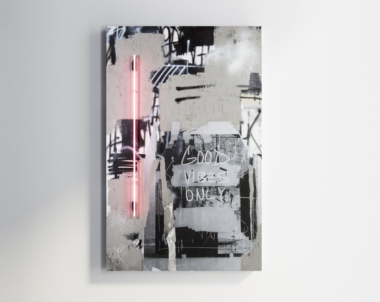 JEREMY BROWN Quick Reminder   mixed media on canvas  45 x 70 inches JBR 158G