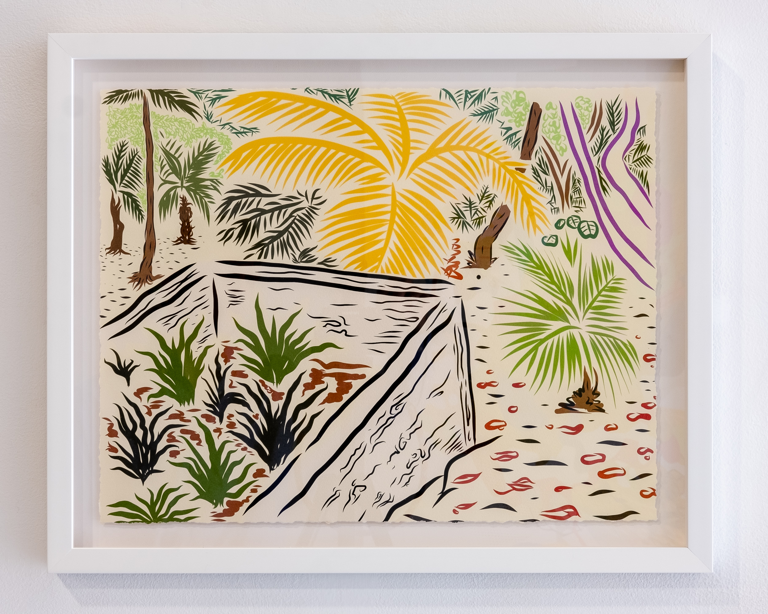 STAN CLARK   Agave Garden  inkjet on hand-tinted watercolor paper 16 x 20 inches SCL 002G