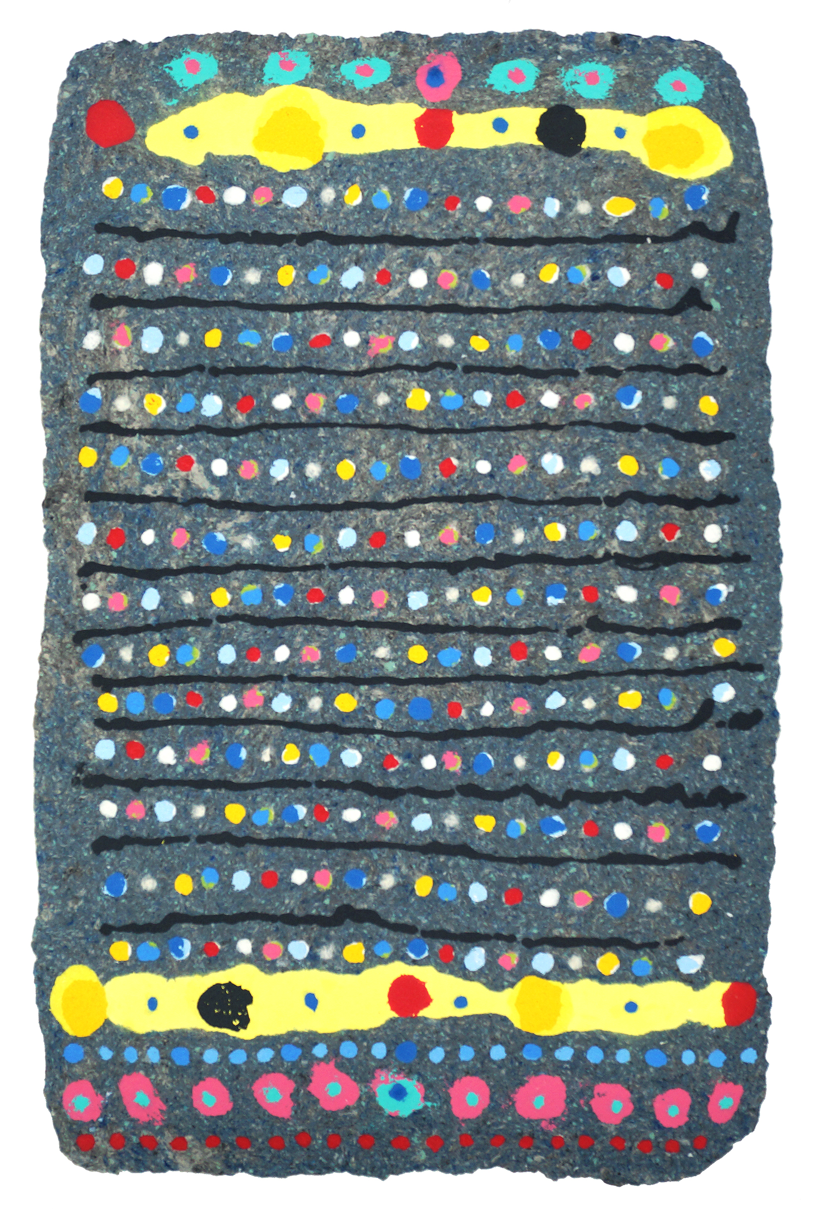 CHAD HAYWARD   Untitled (3) - 2017  Handmade paper with pigmented paper pulp, 41 1/2 x 26 1/2 inches