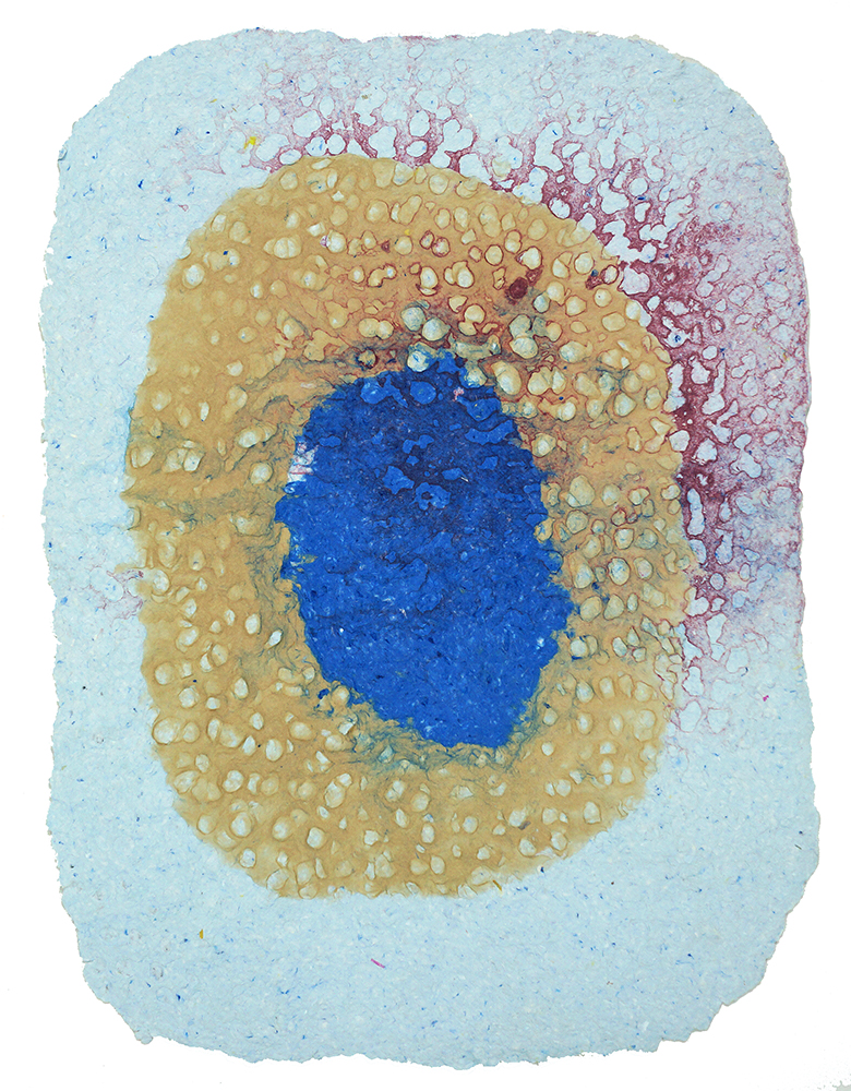 CHAD HAYWARD   Untitled (8) - 2017      Handmade paper with pigmented paper pulp, 25 3/4 x 18 1/4 inches