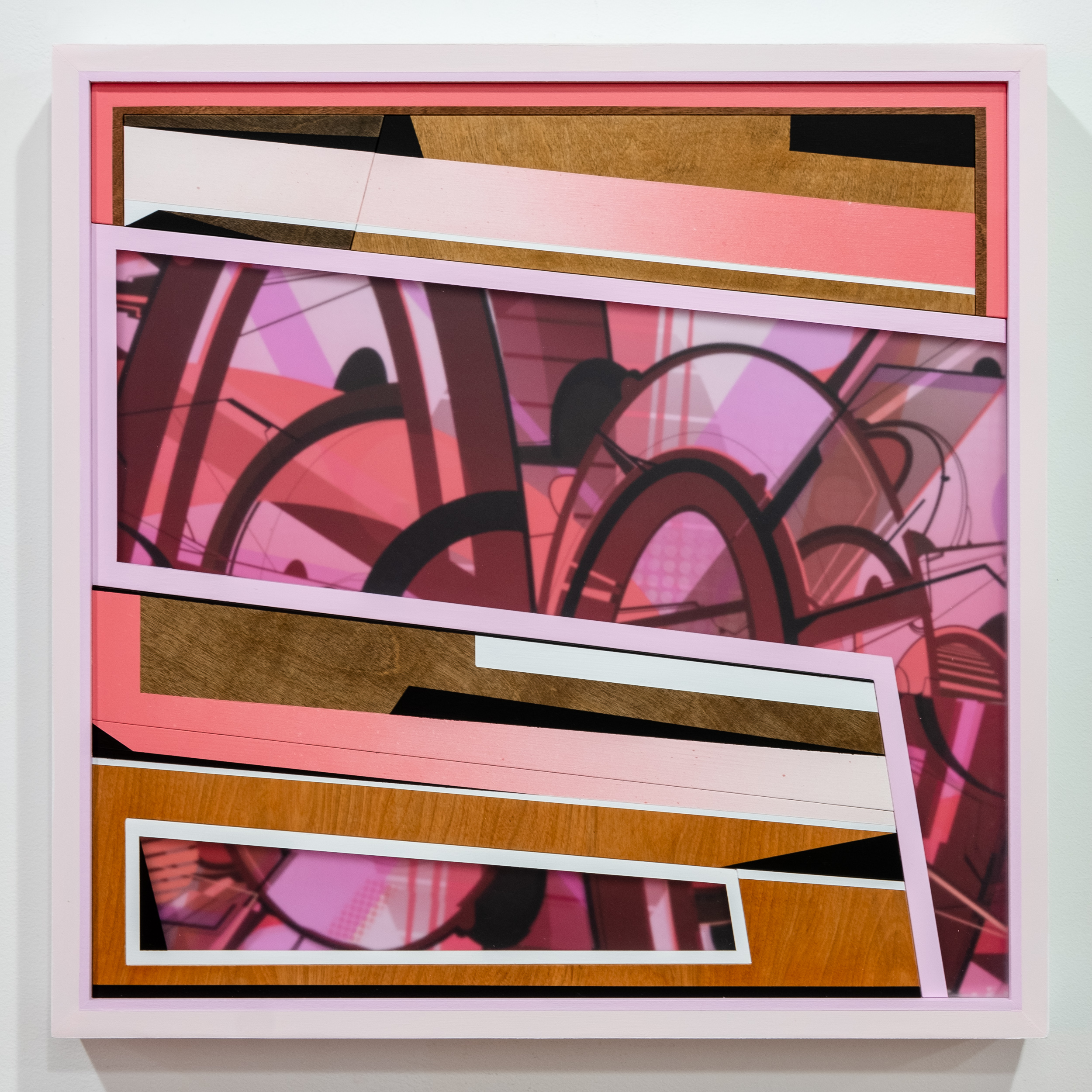 PHIL HARRIS   Fever Dream  mixed media 26 x 26 inches PHA 022G