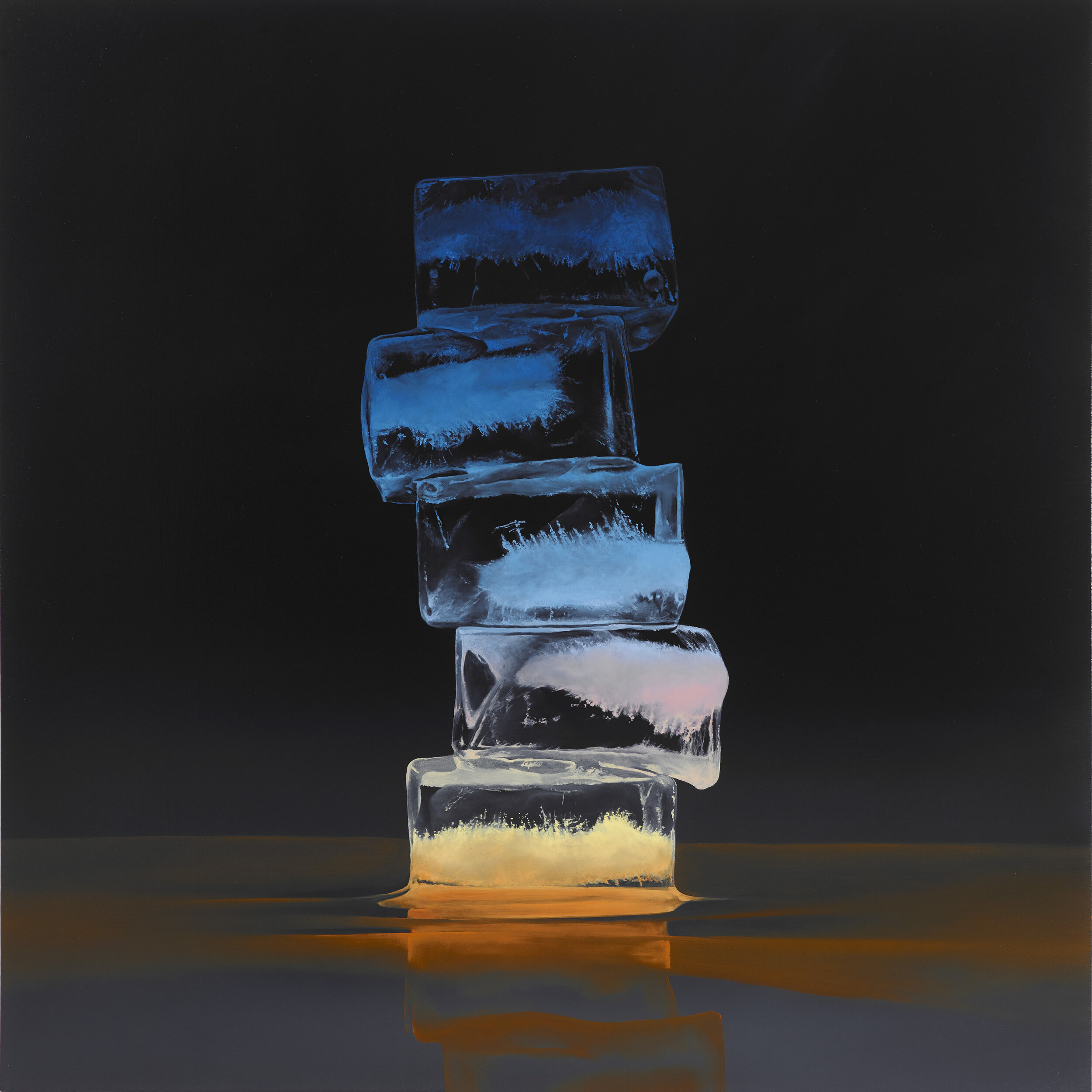"Kevin Palme ""Pacific Sunrise""   oil on panel, 30 x 30 inches KPA 044G"