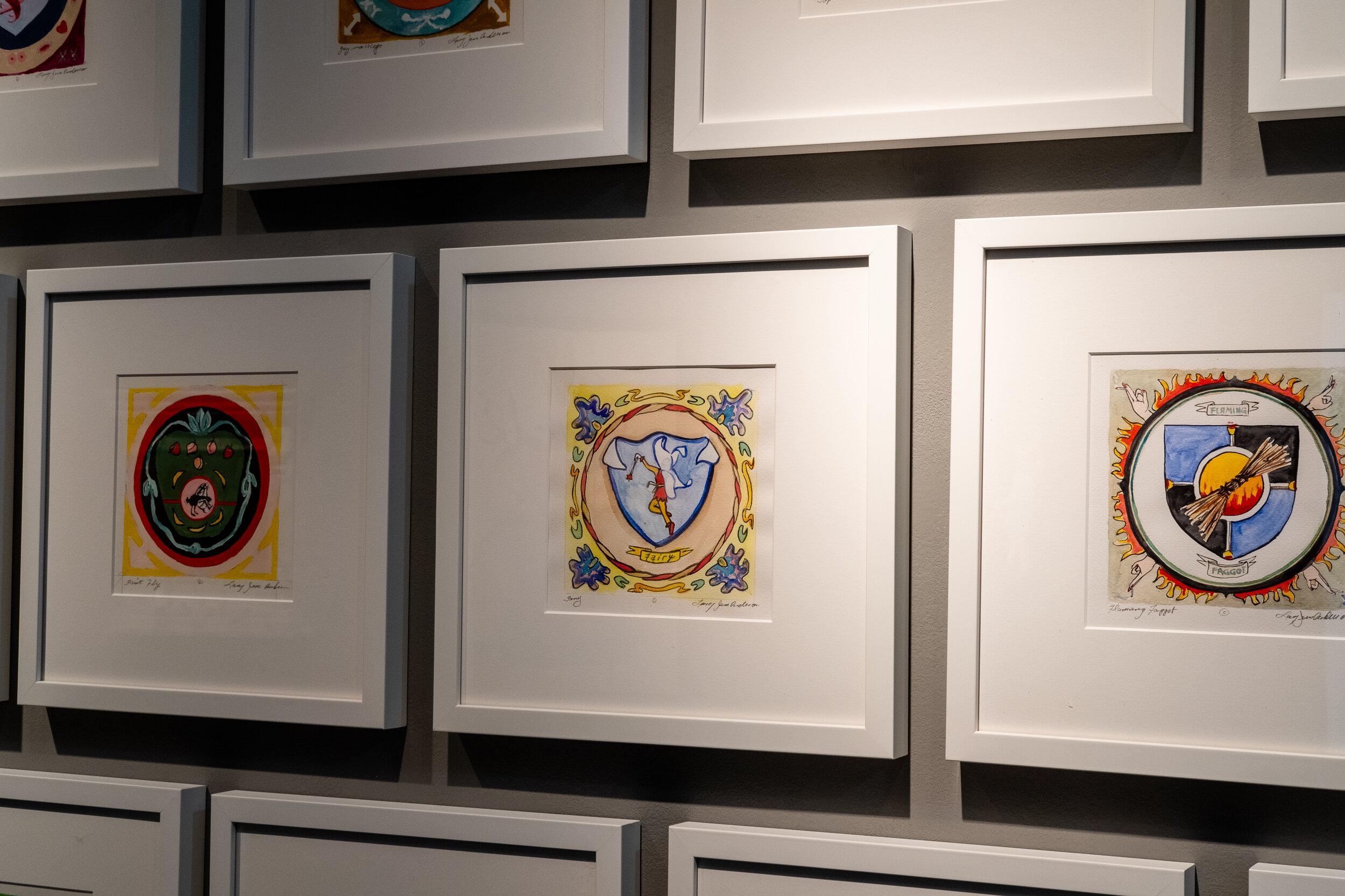 Passage   framed watercolors {original} 14.25 x 14.25 inches LJA 256G