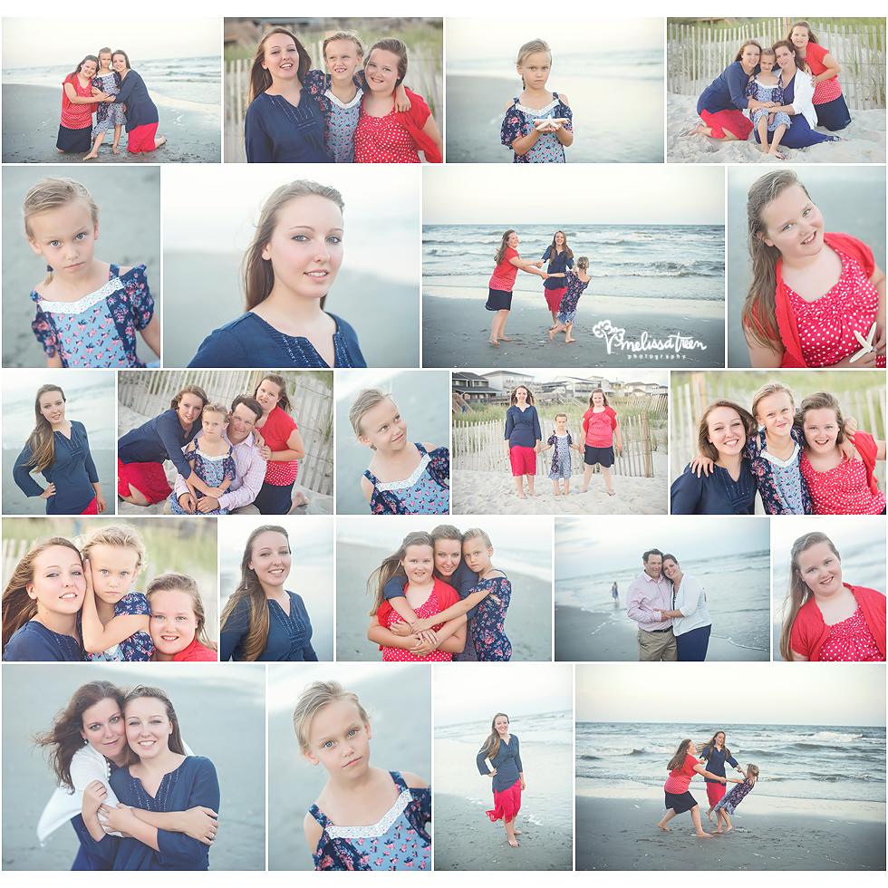 family photos on ocean isle beach north carolina photographer melissa treen