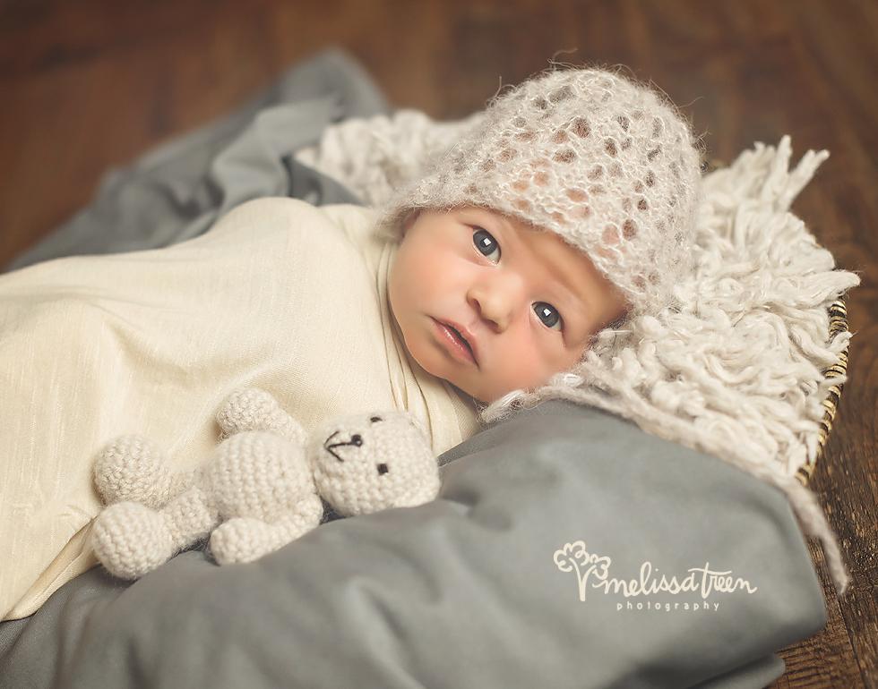 newborn baby with teddy bear greensboro chapel hill baby photographer maternuty.jpg