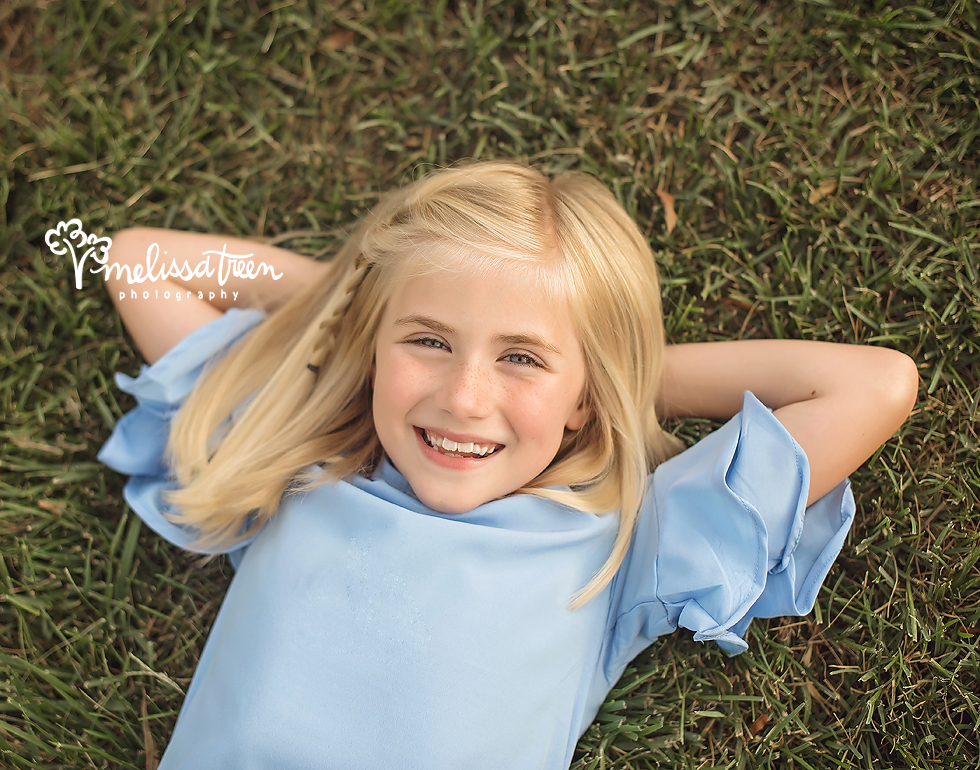 She is like a ray of sunshine! I have had the honor of photographing this sweet girl for many years now. I love when clients return year after year, it helps children build a level of comfort with the photographer and that makes all the difference.  During this photo shoot, this sweet girl and I giggled more than anything because she was comfortable with me. She knows me and I know her ... I know how to get the expressions I am looking for because I know what makes her giggle. :)  If there is one thing I could suggest for family photography or child photography, it is to work with the same photographer, it really builds the comfort level during photo shoots for children and family members.