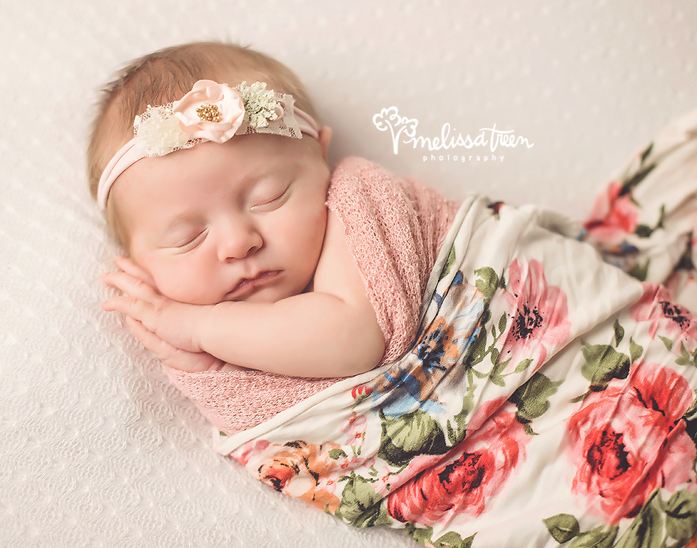 September has arrived with all of it's might and is flying by already! Christmas will be here before we know it and oh the surprises we are planning for Christmas this year! Stay tuned for a peek at our special Christmas designs - dreamed of for years and handcrafted this year to bring about a special Christmas experience for all.  This sweet baby girl arrived at the studio 6 days new and snuggled up into this floral wrap and headband for some amazing portraits. SO tiny, so new and so beautiful ...  Scheduling update:  2 newborn portrait appointments available for September - contact us now if you have a September due date to book your session and ensure a space on our calendar