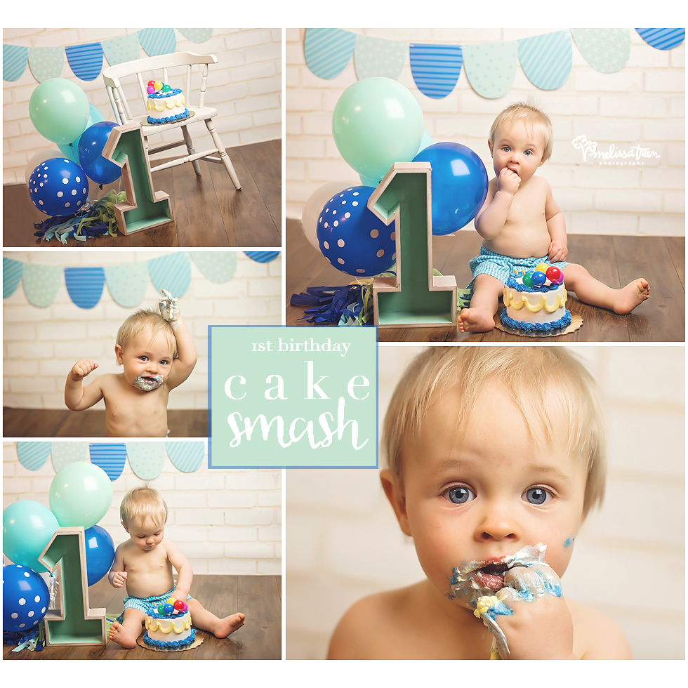 one year birthday cake smash photo shoot Greensboro to Burlington, Chapel Hill to Winston Salem NC