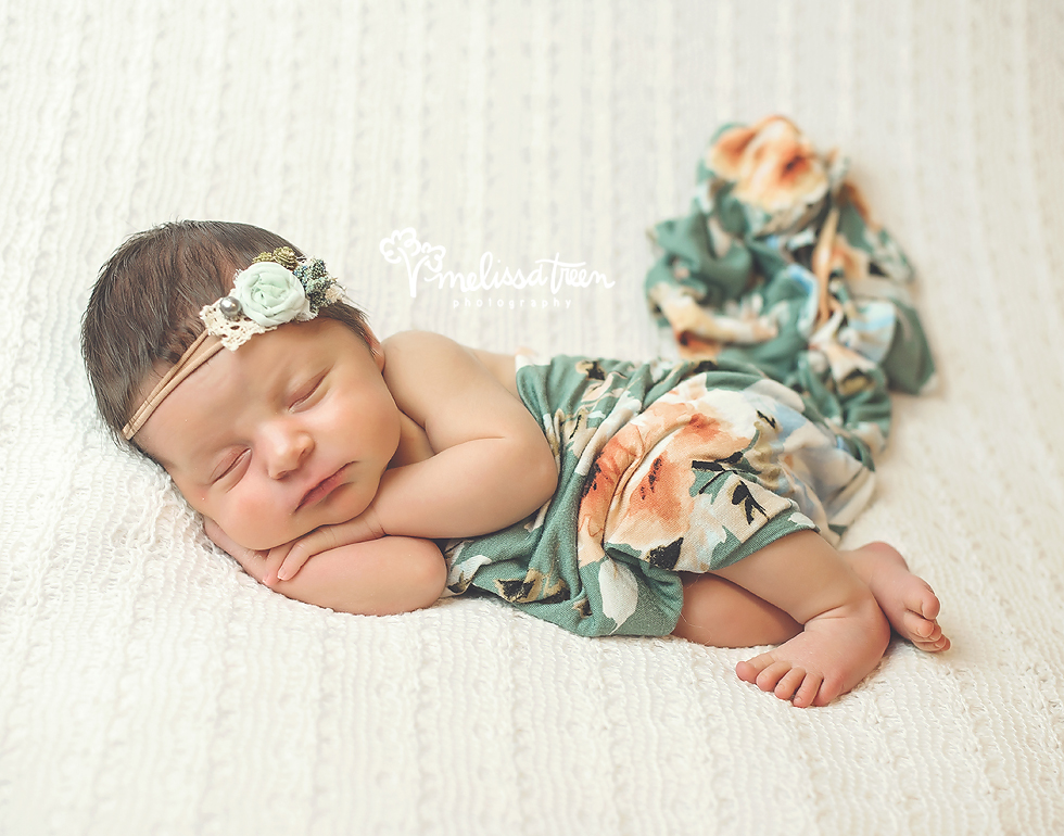 newborn photo with floral greensboro photographer winston salem high point nc.jpg
