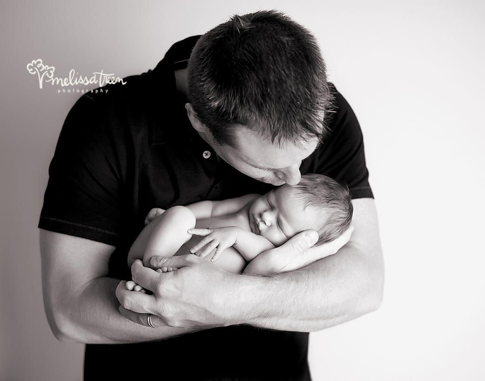 dad and newborn baby portraits burlington nc greensboro family photographer high point new baby pictures melissa treen photography.jpg