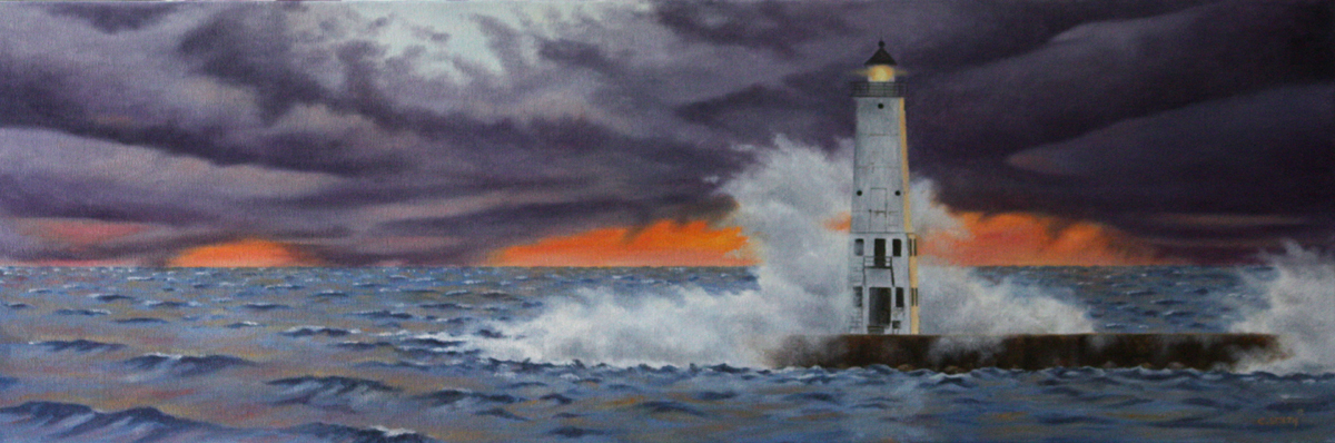 Storm Coming, Frankfort Lighthouse