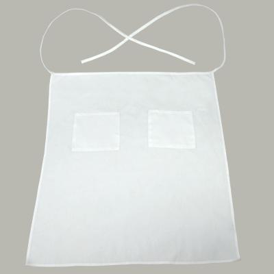 White Bistro Apron 2 Pockets