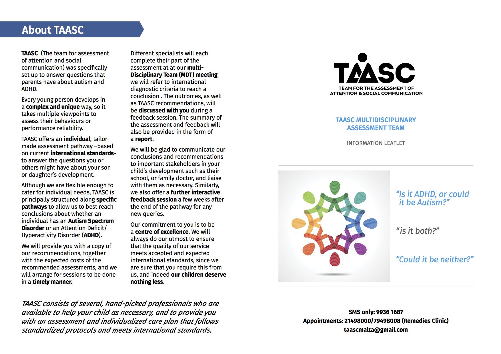 General TAASC brochure