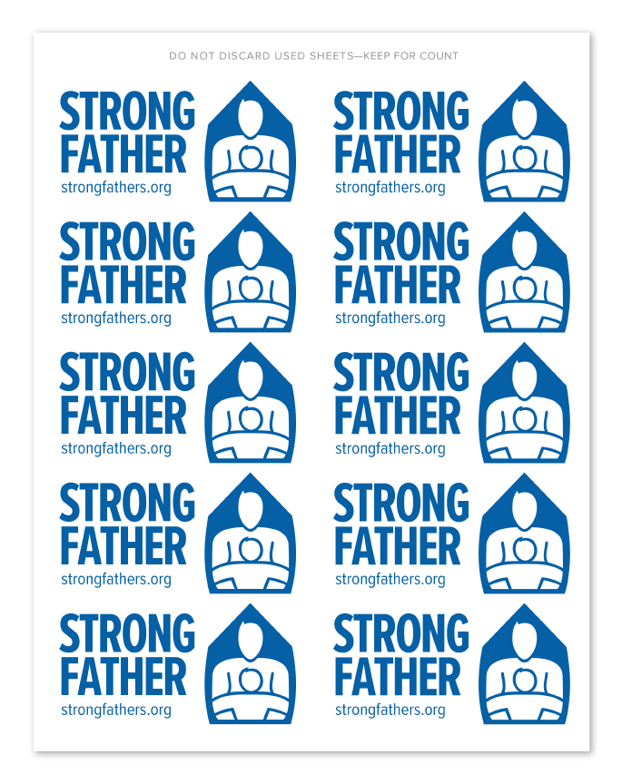 Strong Father Event Stickers