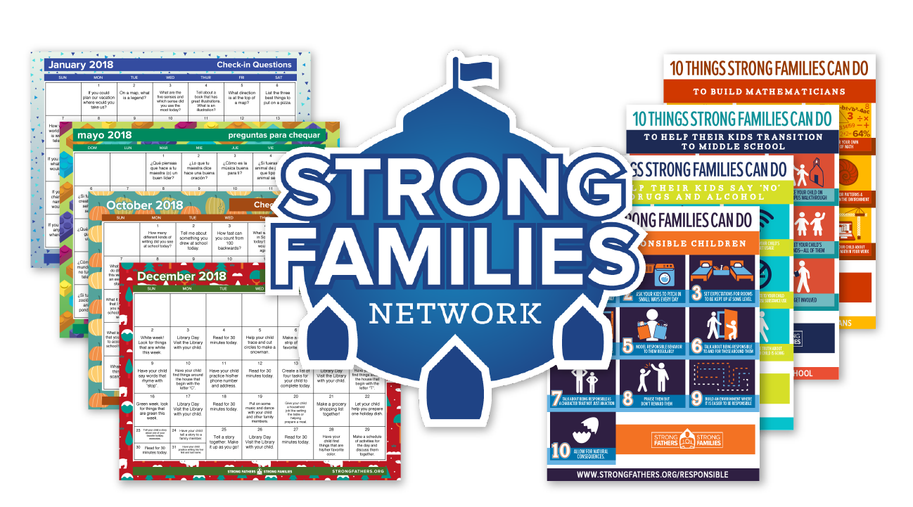 Monthly Resources for Families in English and Spanish.