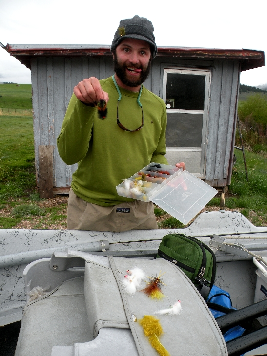 """Bernard, or """"Barnyard"""" as he is known locally, has been chasing trout around southwest Montana for a number of years. His enthusiasm is contagious and always welcome on the stream."""