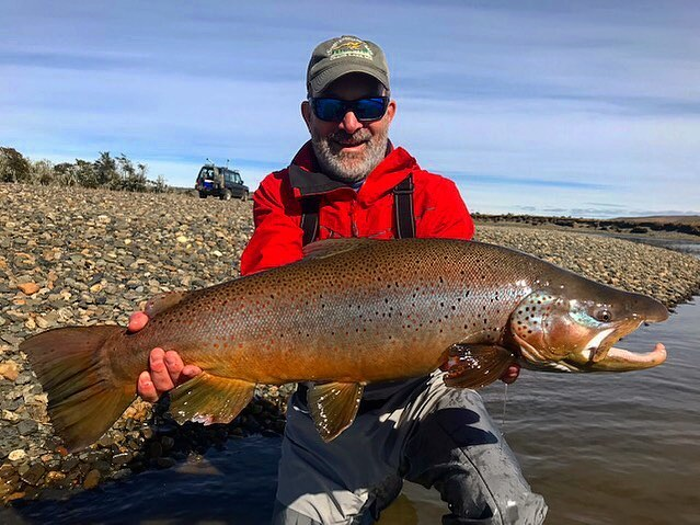 Do you like to travel? How about fishing? Come fish with us for some of the largest brown trout on the plant in Tierra del Fuego, Argentina! #flyfishing #internationaltravel #fishing