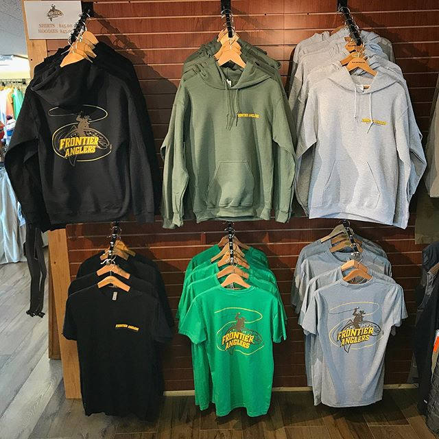 Looking for some of the new Frontier Anglers swag? Come check out our new hoodies and shirts! #beaverheadriver #406 #montana #flyfishing