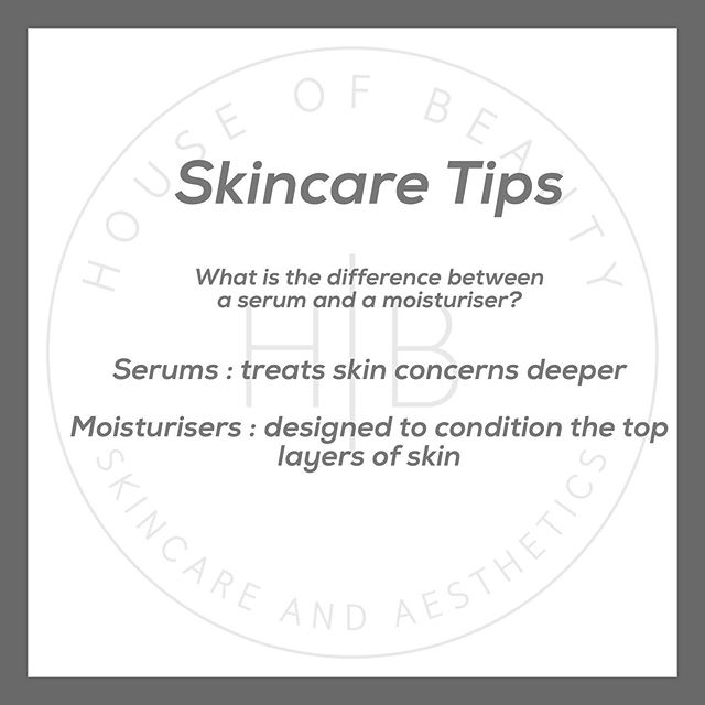 We commonly get asked what is the difference between a serum and a moisturiser and also what is the order of application? . A serum treats skin conditions on a deeper level as it is much lighter and treats skin concerns such as acne, pigmentation and rosacea etc so ingredients are targeted specifically which means that the serum is ALWAYS applied before the moisturiser!  The moisturiser comes second after the serum as this contains beneficial ingredients to the skin however won't be as effective at correction as the serums! Moisturise is there to hydrate the epidermis!  If you would like to learn more about the order of application let us know and we are able to send over the order of application which we recommend! 📲 . #houseofbeauty #skincare #aesthetics #serum #moisturiser #alumiermduk #epidermis #dermis #activeingredients #correctiveserums #skinhealth #skinprep #skincaretips #medicalluxury #derbyshire
