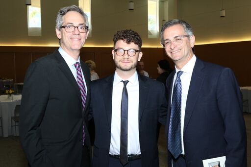 David Myers, Social Justice Fellow Jacob Plitman, Rabbi Ken Chasen