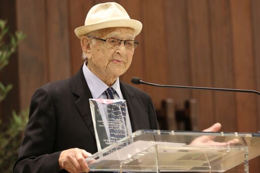 Norman Lear with Award for Social Justice in Action