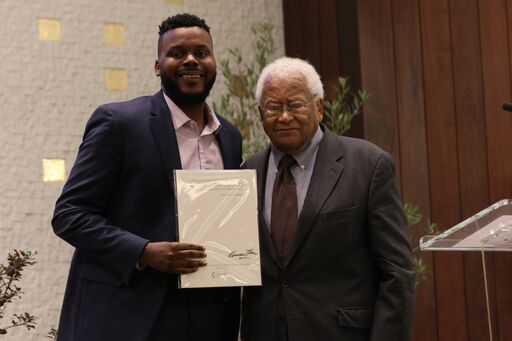 Reverend James Lawson with Social Justice Fellow Mayor Michael D. Tubbs