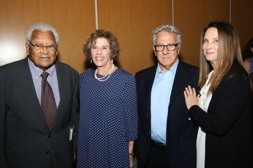 Reverend James Lawson, Joan Beerman, Dustin and Lisa Hoffman